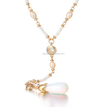 Fashion Gold Beads Pearl Necklace Costume Jewellery Wholesale NSBQ-0012