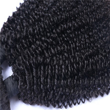 Brazilian human hair sew in weave with kinky curly hair wefts for black women