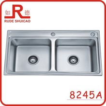 8245A double round bowl kitchen sink