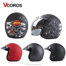 Cheap DOT Vintage Motorcycle helmet Jet casco Retro open face helmets for harley motorcycle