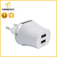 Mini fast usb charger adapter 2 port usb fast charger 5V double 1A 2.1A