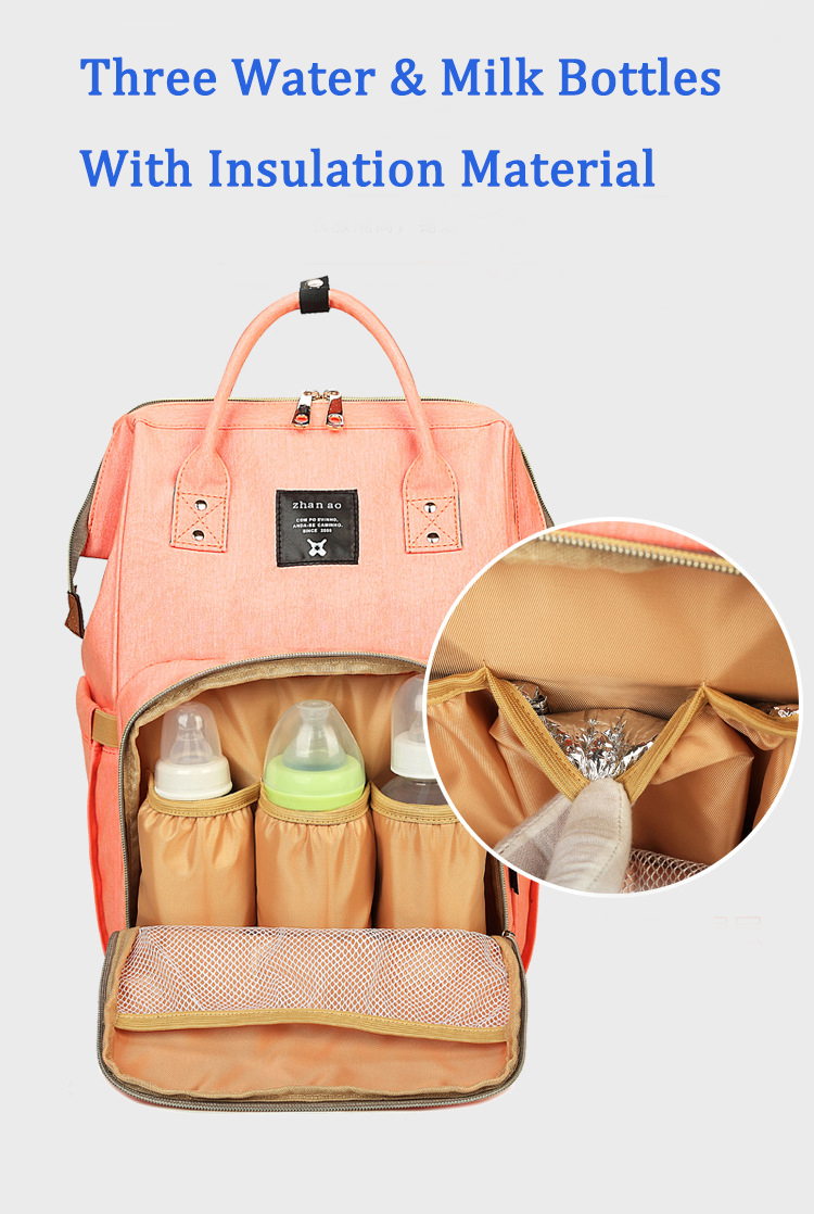 Drop shipping 2018 new Large capacity multi functions nappy backpack lightweight mummy baby diaper backpack stylish diaper bag