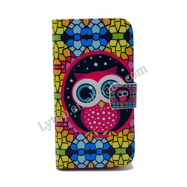 Cartoon bird cover case for samsung galaxy s4 mini with stand