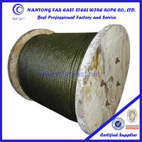 11mm china manufacturer High & low carbon 6x37*FC/IWR/IWS steel wire rope/cable