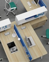 WorkWellFour sets office desk with screen S8-324B