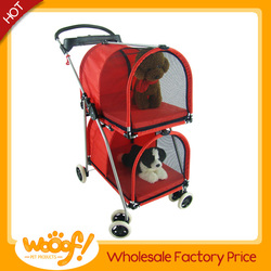 Hot selling pet dog products high quality dog double stroller