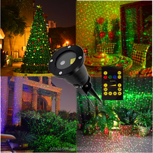Outdoor IP65 Waterproof Laser Light Red Green Christmas Lights Outdoor Laser Show Moving Twinkle Red Green Light Projector
