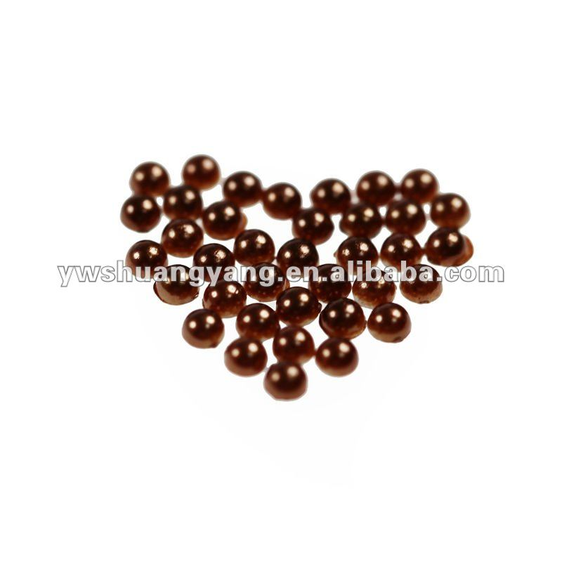 2017 coffee abs plastic half face pearl beads accessory for DIY
