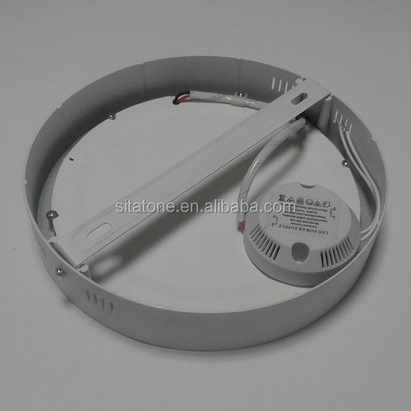 Round shape surface mounted led panel with sensor