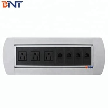 BNT Desktop Flip Up Media Data And Power Socket With Power Plug MK6340US