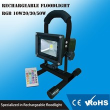 Rechargeable 10w christmas color changing outdoor led flood light