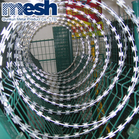 Low price concertina hot dipped galvanized razor barbed wire