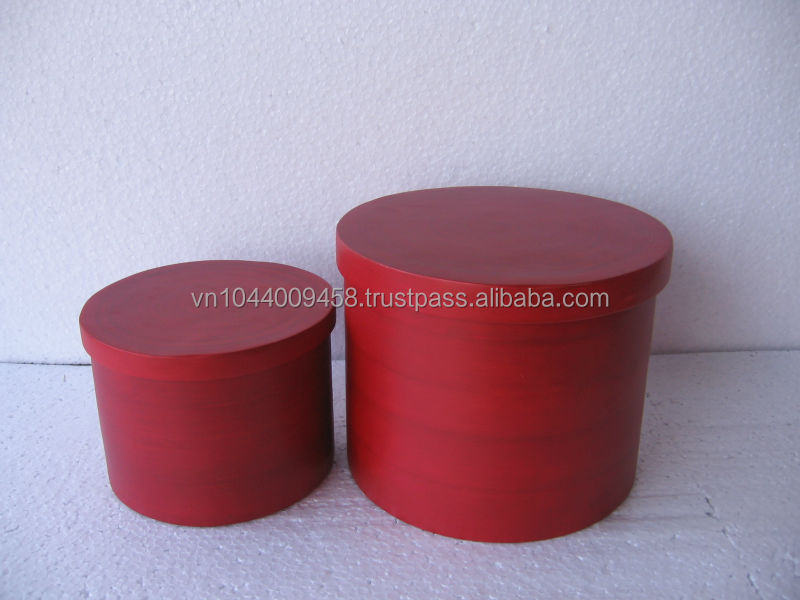 Round pressed bamboo box