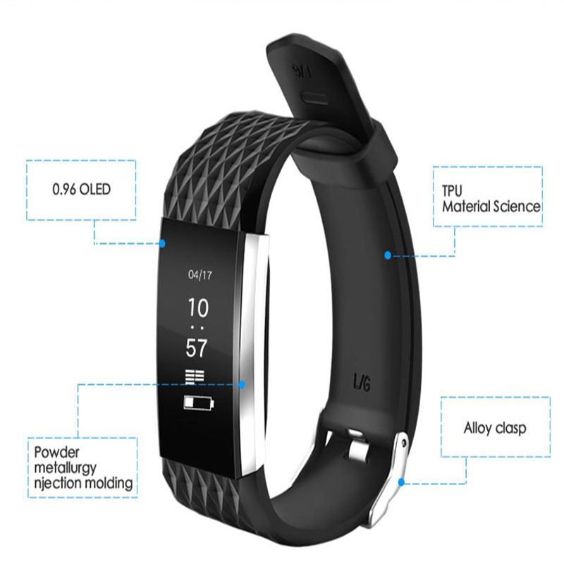Hotselling G4 Smart Bracelet Wristband Fitness Tracker Heart Rate Monitor IP67 Waterproof Smart band Touch OLED Screen