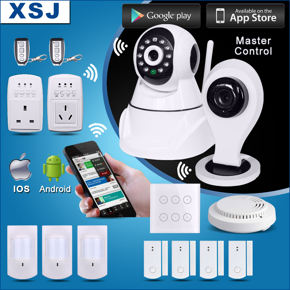 diy smart home automation security camera master control wifi security alarm system buy. Black Bedroom Furniture Sets. Home Design Ideas