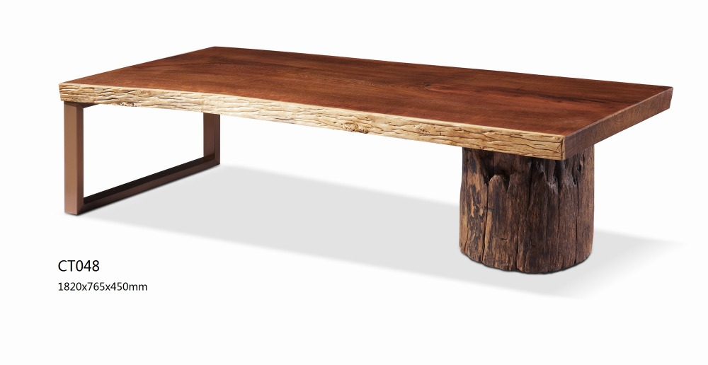 New model replica wooden hotel coffee table with metal and for New model wooden dining table