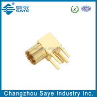 rf female right agnle connector mmcx printed circuit board