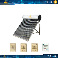 2016 Hot Sale Solar Water Heater With Stainless Steel And Vacuum Tube