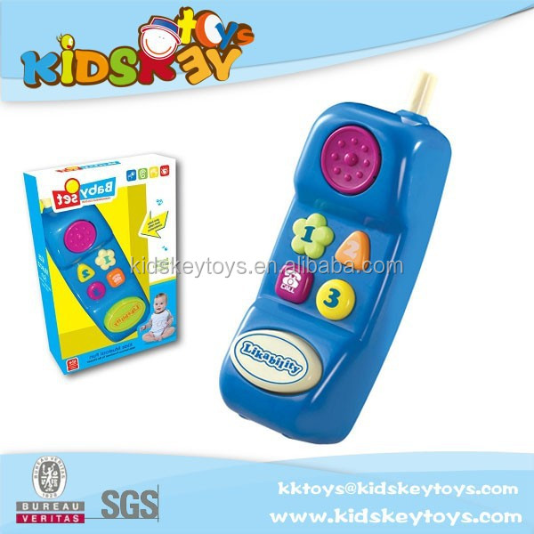 New product education toys plastic baby phone toy with music and light,musical mobile toys