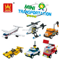 WANGE puzzle toys children's mini transportation building blocks