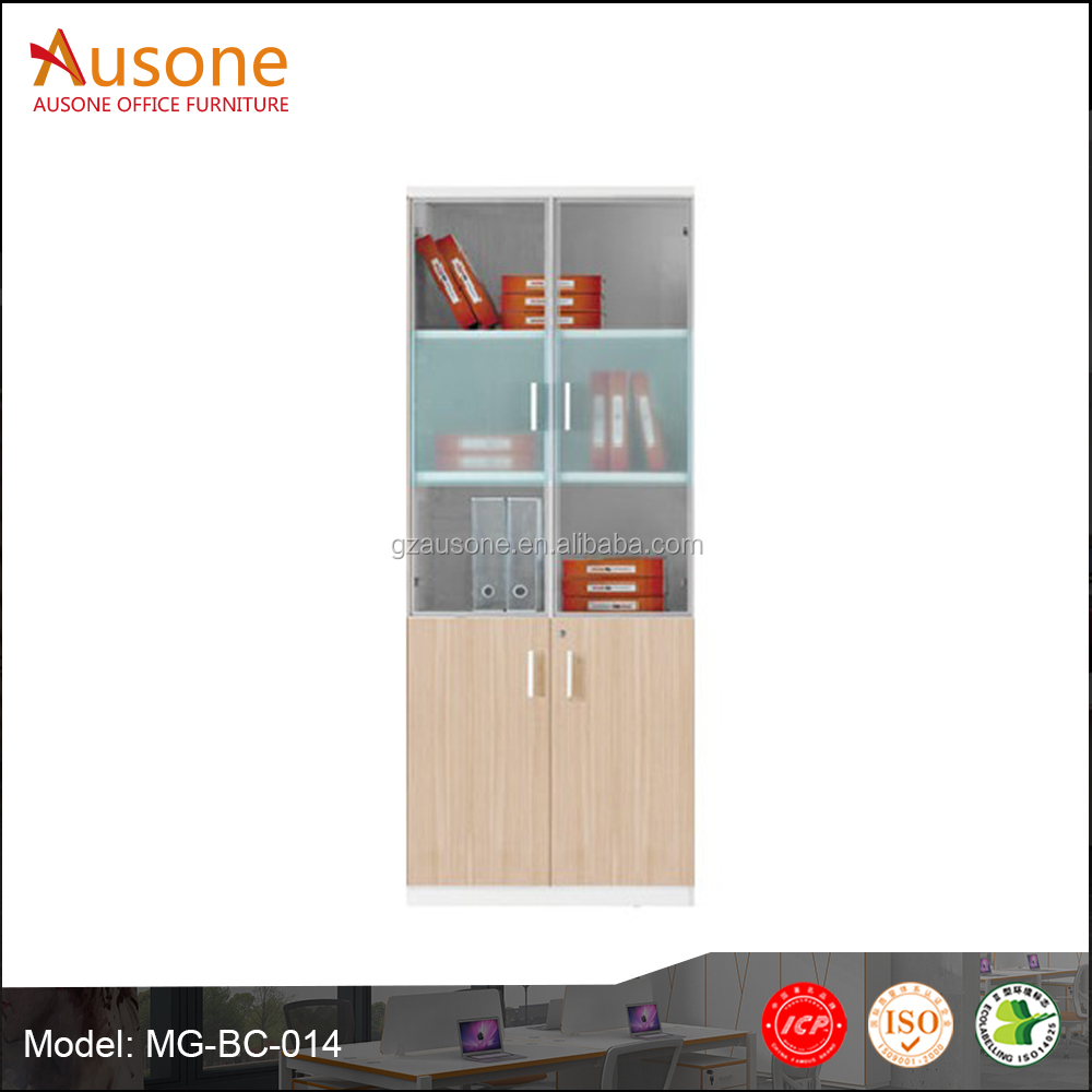 Melamine wood tall Office Furniture filling cabinet with glass door import from China
