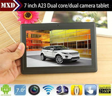 7inch mini pc portable Allwinner A23 tablet pc 512M/4G WIFI android tablet with dual camera