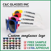 Custom sunglasses logo, Free sample Free design