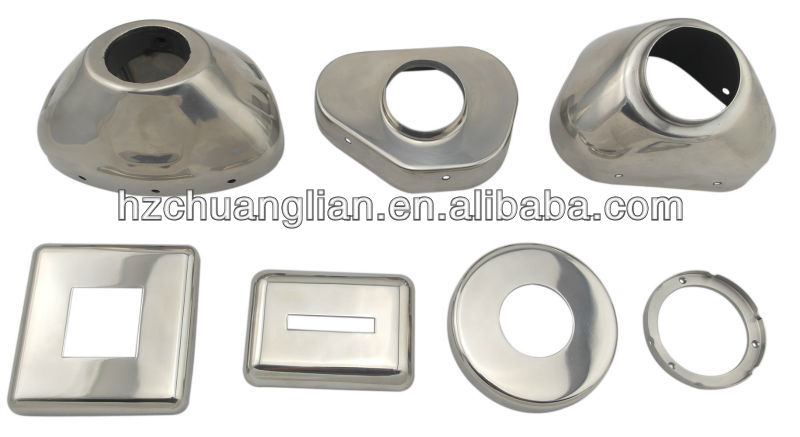 OEM customize precision stainless steel deep drawn parts made in zhejiang,china factory
