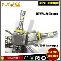 Super bright led headlight 110W 13200lumen H7 9012 crees xhp70 led headlight conversion kit replace halogen xenon bulb