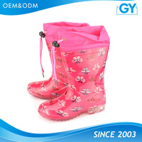 Good quality custom logo cheap wholesale kids rain boots