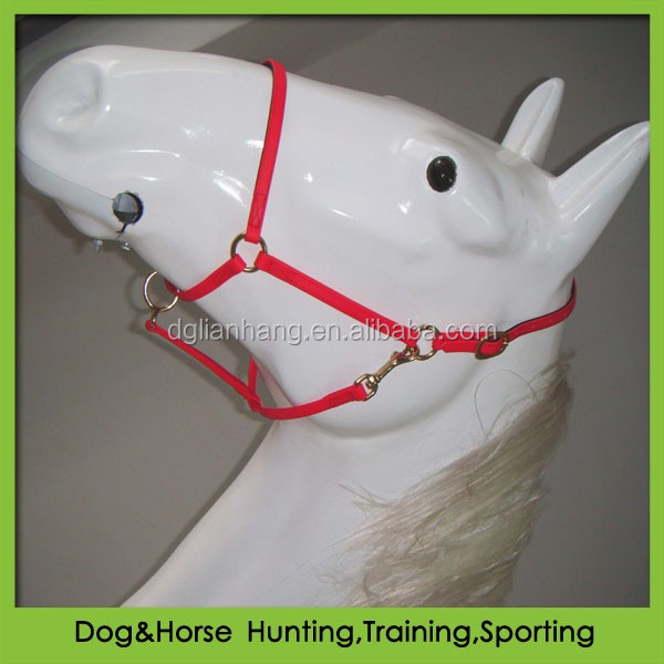 PVC adjustable on noseband halter with brass hardware