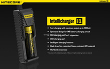 Wholesaler the best Nitecore i1 electronic cigarette vapors 18650 battery and chargers cheap price