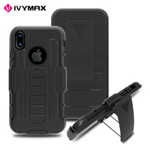 IVYMAX Heavy duty hybrid rugged case for iphone x case silicone,black for iphone x bumper case