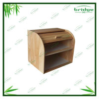 Double decker bamboo decorative bread box