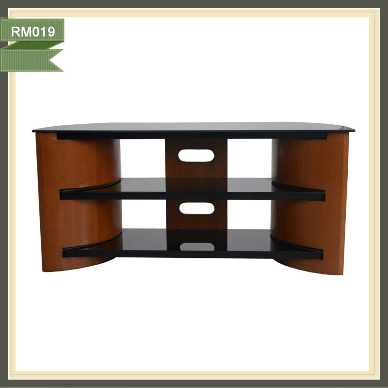 tv cabinet with showcase television stand 60 inch esquineros wood furniture RM019