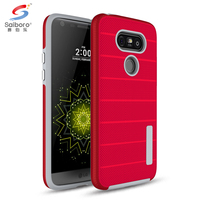 Textured tpu pc hybrid mobile phone case cover for lg g3 g4 g5 g6