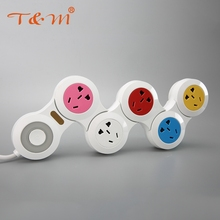 High quality colorful charger usb electric power extension socket