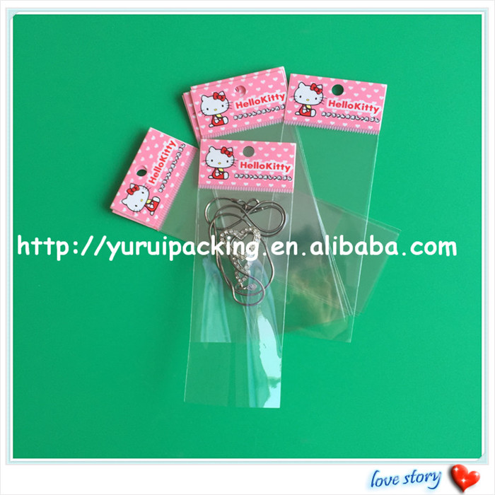 Clear plastic PP gift bag