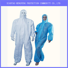 Electronic factory orient Coverall, disposable secruity coverall with hood.