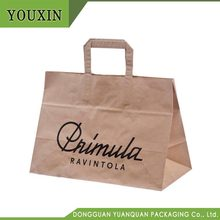 100% Factory Wholesale Custom Printed Shopping Recycled Brown Kraft Paper Gift Bags with Handles