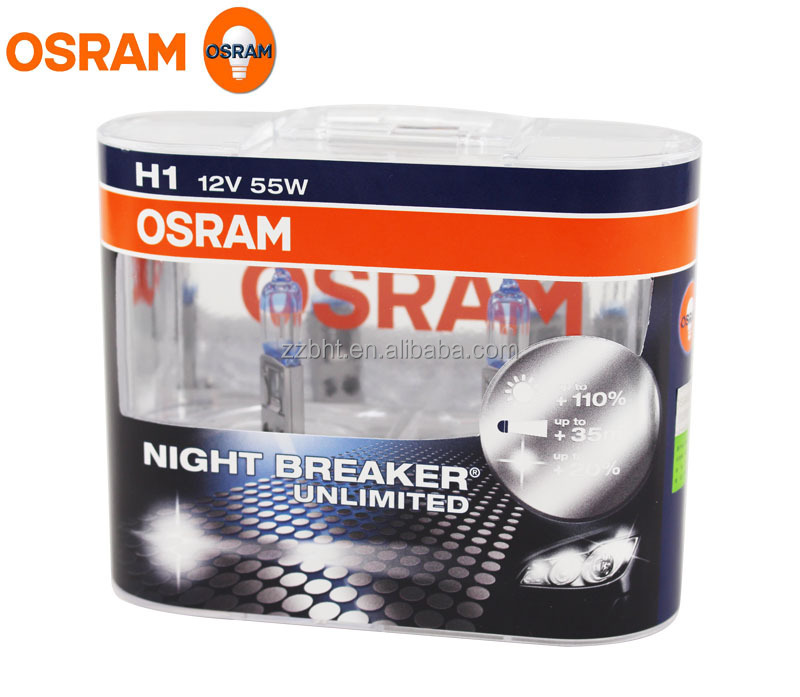 OSRAM H1 NIGHT BREAKER UNLIMITED 12V 55W Head Fog Bulbs 64150NBU