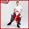 Wholesale Funny Santa Costume Adult Carry Me Mascot Costume