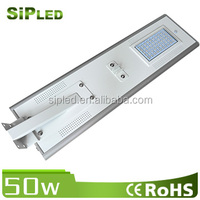 PIR Sensor Solar Panel+LED+Battey Built-in 50W All in One Outdoor Street Light