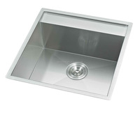 Zero radius undermount kitchen sink