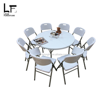 160cm outdoor folding used restaurant round dining table and chair