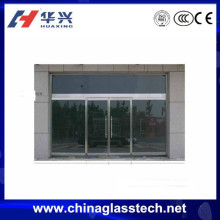 Sound and Heat insulation tempered glass security aluminum garage sliding screen door