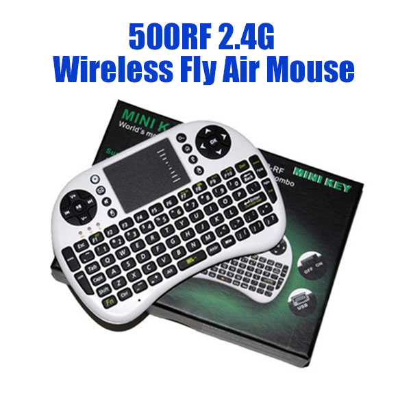 2.4Ghz Wireless Keyboard Air Mouse 92 keys Remote Control Gaming Touchpad for Laptop Tablet Android TV BOX
