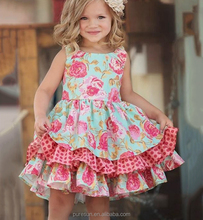boutique baby girls clothes wholesale fancy flower little girl boutique summer dress