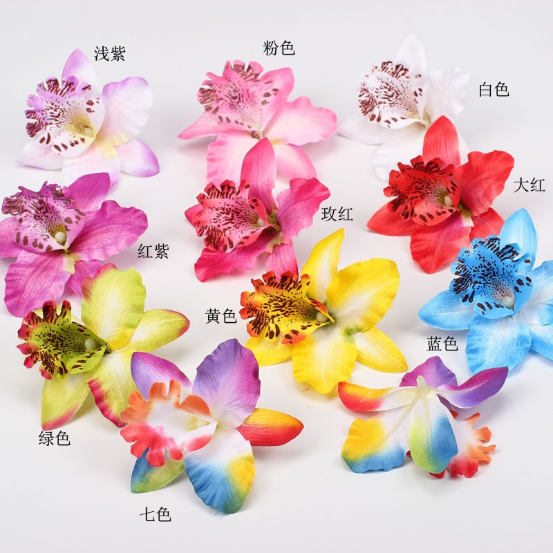 Three orchid flowers 8cm simulation flowers tire corsage, manufacturers selling fake flower LP144