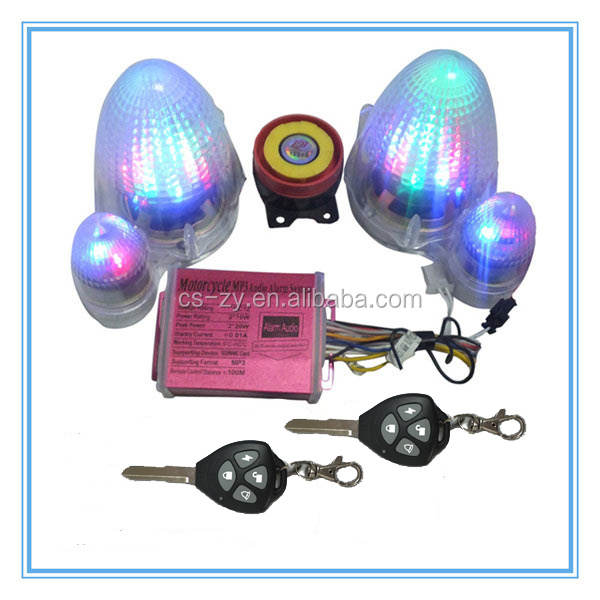 Motorcycle Alarm System With MP3 Human Sound for Suzuki